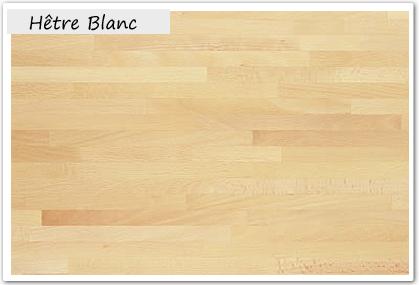 Plan de travail h tre blanc pour cuisine bois massif - Plan de travail bois massif pas cher ...